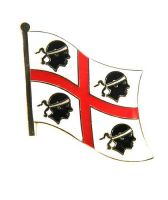Fahnen Anstecker Pin Italien - Sardinien