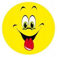 Aufkleber Sticker Smile Zunge