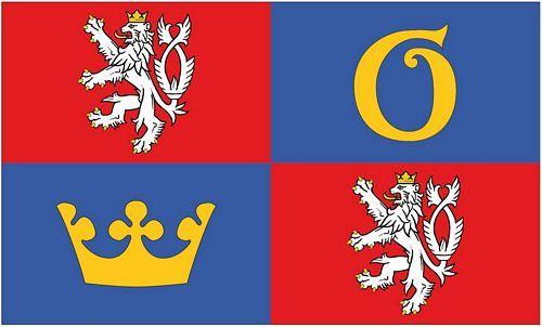 Fahne / Flagge Tschechien - Königgrätz 90 x 150 cm