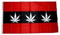 Fahne / Flagge Amsterdam Marijuana 90 x 150 cm