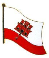 Flaggen Pin Gibraltar NEU Fahne Flagge Anstecknadel