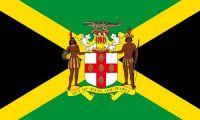 Flagge / Fahne Jamaika Wappen Hissflagge 90 x 150 cm Fahnen