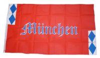 Fahne / Flagge München Schrift 90 x 150 cm