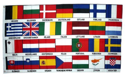 Flagge / Fahne Europa 28 Länder Hissflagge 90 x 150 cm