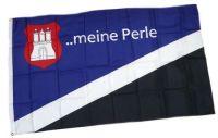 Fahne / Flagge Hamburg Meine Perle 90 x 150 cm