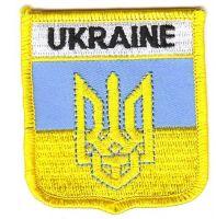 Wappen Aufnäher Fahne Ukraine Wappen