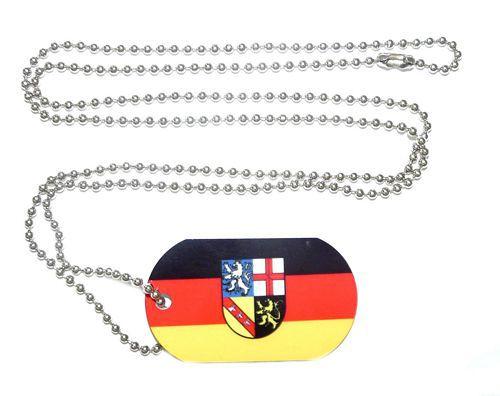 Erkennungsmarke Saarland Dog Tag 30 x 50 mm Fahnen Flaggen