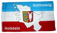 Fahne / Flagge Schleswig Holstein Karte 90 x 150 cm