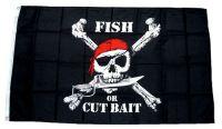 Fahne / Flagge Pirat Fish 90 x 150 cm