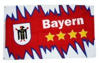 Fahne / Flagge Bayern 4 Sterne Zacken 90 x 150 cm