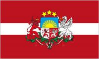 Flagge / Fahne Lettland Wappen Hissflagge 90 x 150 cm