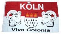 Fahne / Flagge Köln Viva Colonia 90 x 150 cm