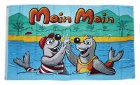 Fahne / Flagge Moin Moin Urlaub 90 x 150 cm