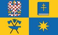 Fahne / Flagge Tschechien - Zlin 90 x 150 cm