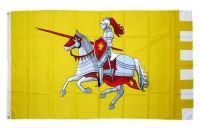 Fahne / Flagge Ritter mit Pferd gelb 90 x 150 cm