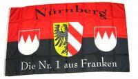 Fahne / Flagge Fußball Nürnberg 90 x 150 cm