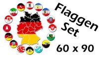 Flaggenset Deutschland 16 Bundesländer 60 x 90 cm