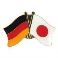 Fahnen Freundschaftspin Anstecker Japan