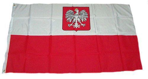 Flagge / Fahne Polen Adler Hissflagge 90 x 150 cm