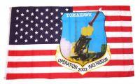 Fahne / Flagge USA - Tomahawk 90 x 150 cm