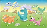 Flagge / Fahne Baby Dinosaurier 90 x 150 cm