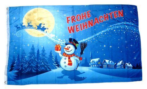Fahne / Flagge Frohe Weihnachten Mond 90 x 150 cm