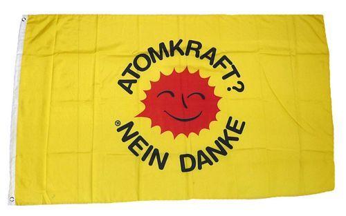 Fahne / Flagge Atomkraft Nein Danke! 150 x 250 cm