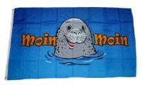 Fahne / Flagge Moin Moin Seehund 60 x 90 cm