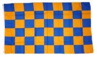 Fahne / Flagge Karo gelb / blau 90 x 150 cm