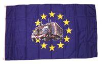 Fahne / Flagge Europa mit Truck 90 x 150 cm