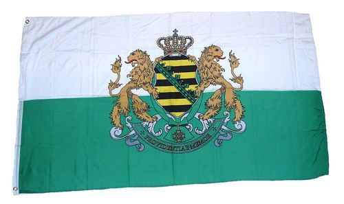 Fahne / Flagge Königreich Sachsen Wappen 90 x 150 cm