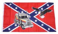 Fahne / Flagge Südstaaten - Truck & Adler 90 x 150 cm