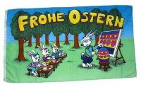 Fahne / Flagge Frohe Ostern Hasenschule 90 x 150 cm