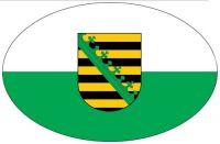 Wappen Aufkleber Sticker Sachsen