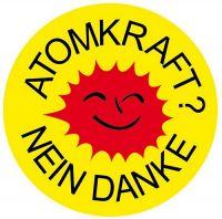Aufkleber Sticker Atomkraft - Nein Danke! Rund