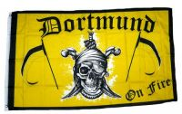 Fahne / Flagge Dortmund on Fire gelb 90 x 150 cm