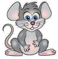 Aufkleber Sticker Maus