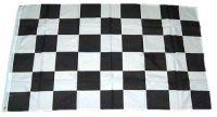Fahne / Flagge Start / Ziel Karo schwarz / weiß 150 x 250 cm