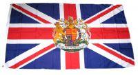 Flagge / Fahne Großbritannien Wappen Hissflagge 90 x 150 cm