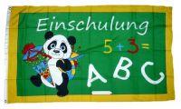 Fahne / Flagge Schulanfang ABC 90 x 150 cm