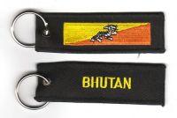 Fahnen Schlüsselanhänger Bhutan