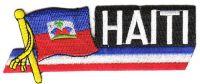 Fahnen Sidekick Aufnäher Haiti
