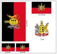 Fahnen Aufkleber Set Königreich Württemberg