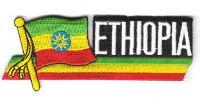 Fahnen Sidekick Aufnäher Äthiopien