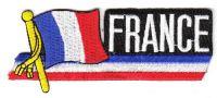 Fahnen Sidekick Aufnäher Frankreich