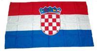 Fahne / Flagge Kroatien 30 x 45 cm