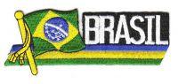 Fahnen Sidekick Aufnäher Brasilien