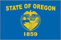 Fahnen Aufkleber Sticker USA - Oregon