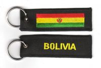 Fahnen Schlüsselanhänger Bolivien