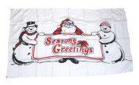 Fahne / Flagge Weihnachten Seasons Greetings 90 x 150 cm